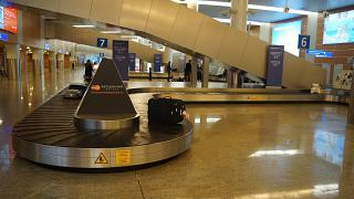 Baggage claim in airport terminal D Sheremetyevo airport Moscow