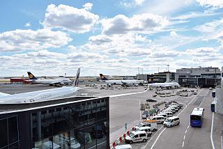 The apron at terminal 1 of Frankfurt airport