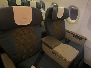 Armchairs business class in the Airbus A321 Vietnam airlines