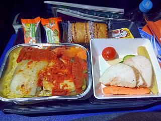 Muslim meal on the Aeroflot flight Moscow-Omsk