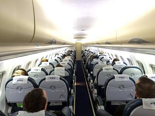 The cabin of the ATR 72 airlines NORRA