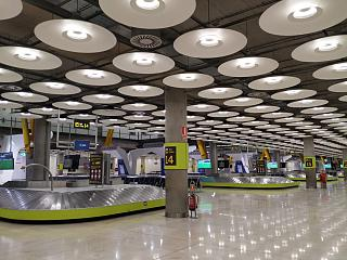 Baggage claim area at terminal T4 of Madrid-Barajas airport