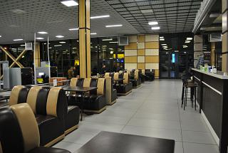 Dining in terminal A of airport Simferopol