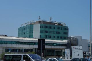 The administration building of the airport of Rome Fiumicino