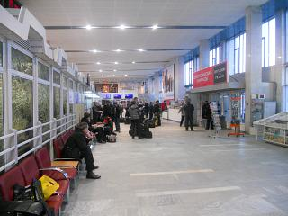 The interior of the airport Izhevsk airport