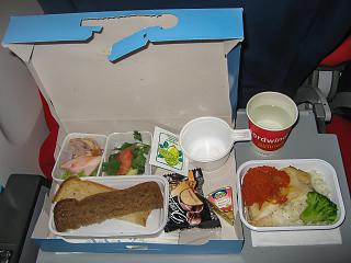 Food on the flight from Krasnoyarsk to Phuket airlines Nordwind