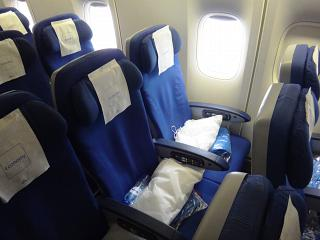 Seat economy class in the Boeing 747-400 KLM