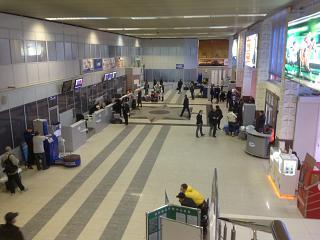 In the airport of Talagi airport in Arkhangelsk