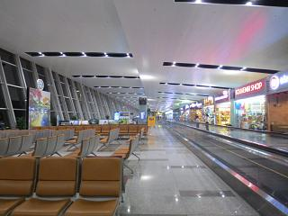 In the clean area of the international terminal of airport Hanoi, Noi Bai