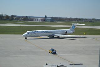 McDonnell Douglas MD-83 of Bravo Airways at the airport of Lviv