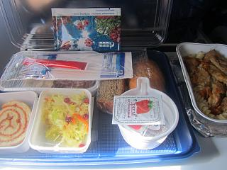 Food on the flight Novy Urengoy-Moscow airlines, Gazpromavia