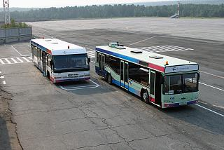 Buses to transport passengers to the airport Emelyanovo