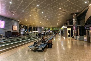 In the clean area of the terminal T2 of Barajas airport