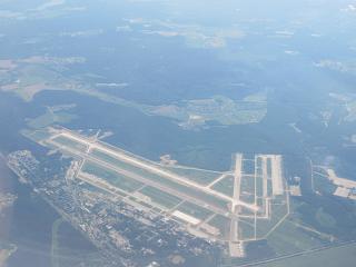 Вид сверху на подмосковный аэродром Чкаловский