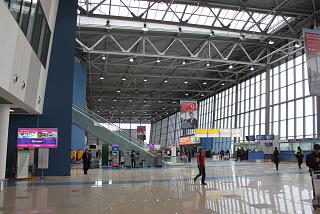 In the terminal building of the airport of Vladivostok