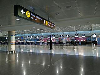 Зона регистрации на вылетающие рейсы в аэропорту Ларнака