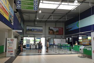 Check-in area at the airport Heviz-Balaton