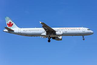 The Airbus A321 C-GJWI airlines Air Canada