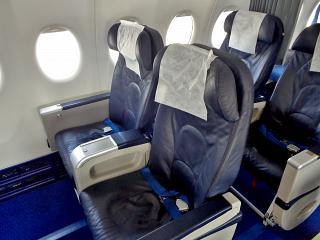 """Business class on the plane Superjet-100 of airline """"Iraero"""""""