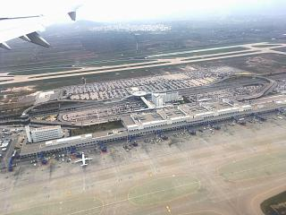 Top view of the Athens airport Eleftherios Venizelos