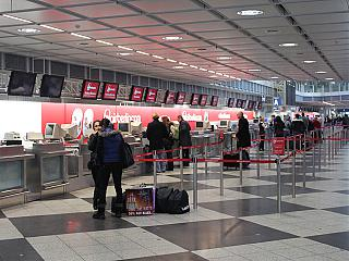 Reception Air Berlin at Munich international airport