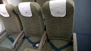 The passenger seats in the Airbus A321 Vietnam airlines