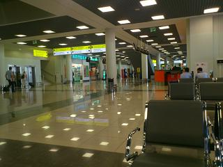 The arrivals area in terminal D of Sheremetyevo airport
