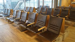 The waiting room before flying to Oslo airport Gardermoen