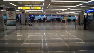 Reception in terminal 2 of Belgrade airport Nikola Tesla