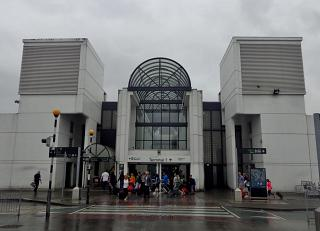 The entrance to the terminal 1 of Dublin airport