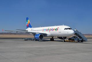 Airbus A320 Small Planet Airlines at the airport of Marsa Alam