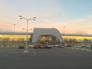 The terminal of the airport of Belgorod
