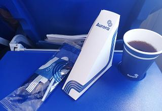 "Flight meals on the flight Yuzhno-Sakhalinsk-Khabarovsk airline ""Aurora"""