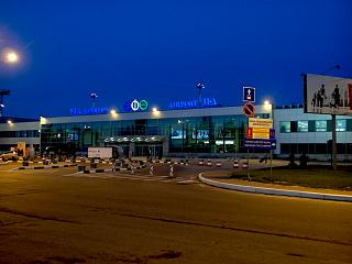 The domestic terminal of the airport of Ufa