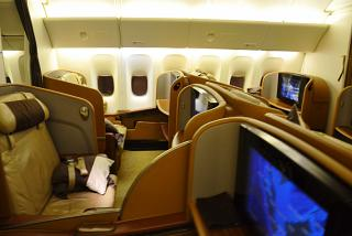 The first class in Boeing 777-300s from Singapore airlines