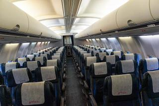 """The passenger cabin on the Boeing-737-500 of airline """"Belavia"""""""