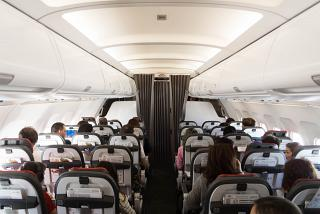 The passenger cabin of the Airbus A319 TAP Portugal