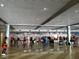 The reception area in terminal F Kiev Borispol airport