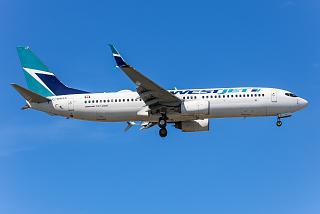 Boeing 737-800 C-GWSX WestJet airlines