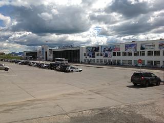 Аэровокзал аэропорта Сокол в Магадане