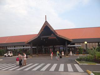 The entrance to the terminal of the airport of Siem reap