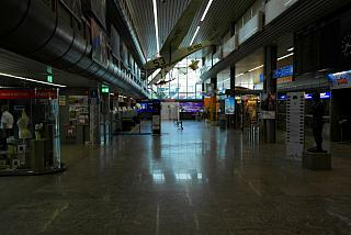 In the passenger terminal of the Ljubljana airport