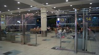 The waiting room before the boarding gate in the net international departures area of Domodedovo airport