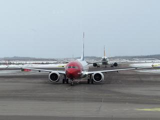 The Boeing 737 max 8 airline Norwegian Helsinki airport Vantaa