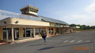 The terminal of the Sihanoukville airport airside