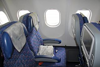 The passenger seats in the economy class in Airbus A330-300 VQ-BNS Aeroflot