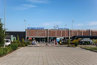 Entrance to the departure zone of the passenger terminal of Burgas Airport