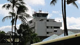 Control tower of airport Honolulu