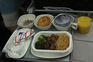 Food on the flight Seoul-Phuket airlines Korean Air