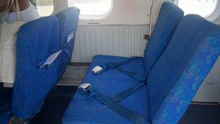Passenger seats in aircraft DHC-6 Twin Otter Air Seychelles